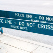 POLICE LINE - DO NOT CROSS — Stock Photo