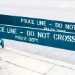 Stockfoto: POLICE LINE - DO NOT CROSS