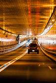 Tunnel traffic in New York — Stock Photo