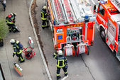 Fire fighters in action — Foto de Stock