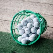 Stock Photo: Bucket of Practice Golf Balls