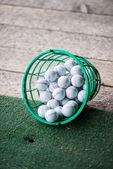 Bucket of Practice Golf Balls — Stock Photo