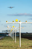 Airport landing lights — Stock Photo