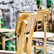 Vintage old school chairs — Foto Stock