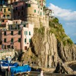 Wedding in Manarola town at Cinque Terre national park. Italy — Stock Photo