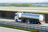 Tanker truck on highway — Stock Photo