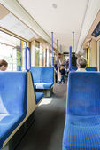 Seats in a tram in Germany — Stock Photo