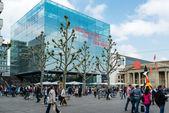 The new art museum of Stuttgart, Germany — Stock Photo