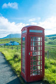 Ttraditional red telephone booth — Stock Photo