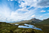 Knockan Crag in the schottish highlands — Stock Photo