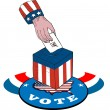 American Election Voting Ballot Box Retro - Stock Vector