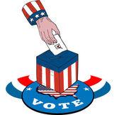 Americké volby hlasovacích uren retro — Stock vektor