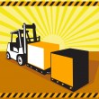 Royalty-Free Stock Vector Image: Forklift Truck Materials Handling Retro
