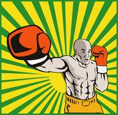 Boks bokser jabbing przód — Wektor stockowy