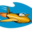 Jet Plane Rocket Ship — Stock Vector