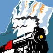 Vintage Steam Train Locomotive Retro - Imagen vectorial