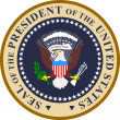 Stock Vector: Seal of president of united states of america