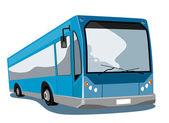 Retro koç otobüs servisi — Stok Vektör