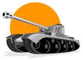Wereldoorlog twee panzer strijd tank — Stockvector