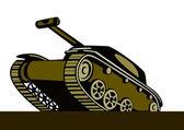 Tanque de batalha da guerra de mundo dois — Vetorial Stock