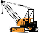 Construction Crane Hoist Retro — Stock Vector