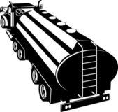 Fuel Tanker Truck Retro — Stock Vector