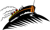 Statek pasażerski — Wektor stockowy