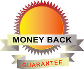 Seal with scroll money back guarantee — Stock Vector