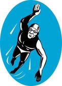 Cankurtaran yüzme retro — Stok Vektör