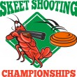 Crayfish Lobster Target Skeet Shooting - Imagen vectorial