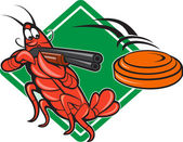 Crayfish Lobster Target Skeet Shooting — Stock Vector