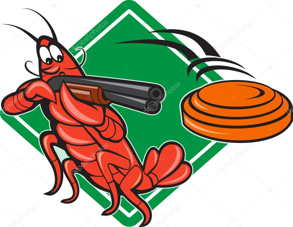 Crayfish Lobster Target Skeet Shooting — Stock Vector © patrimonio #14553223