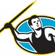 Постер, плакат: Javelin Throw Track and Field Athlete