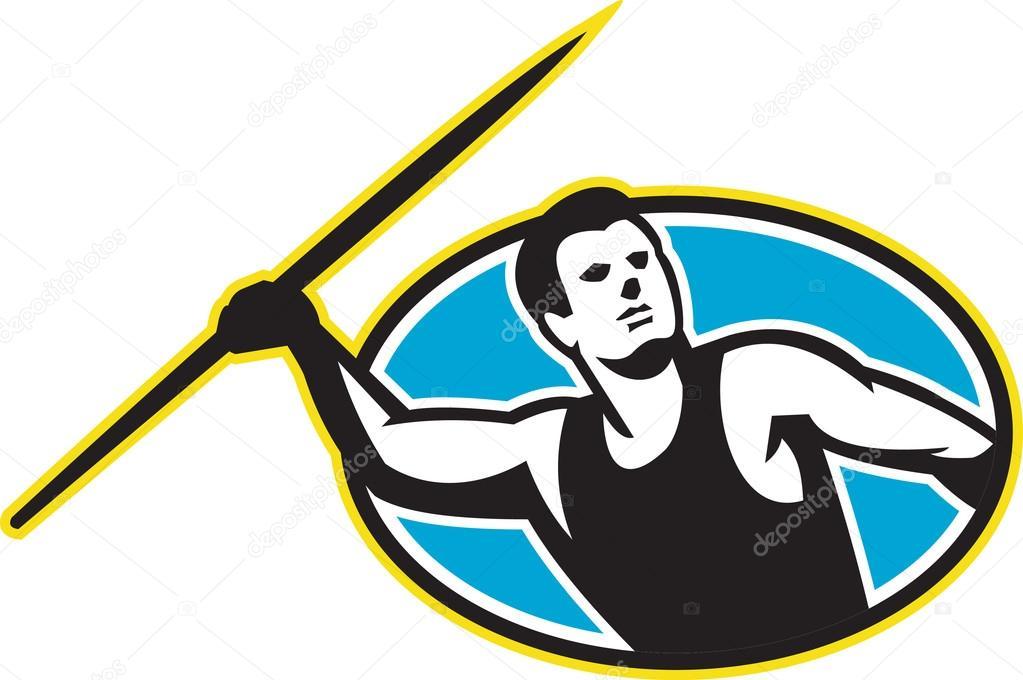 Javelin Throw Field Javelin Throw Facing Front