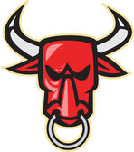 Raging Angry Bull Head — Stock Vector