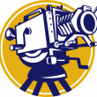 Vintage Movie Film Camera Retro - Imagen vectorial