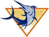 Blue Marlin Jumping — Stock Vector