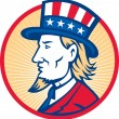 Uncle Sam American Side — Stock Vector
