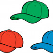 Baseball caps — Stock Vector