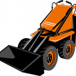 Compact skid steer — Stock Vector