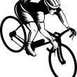 Постер, плакат: Cyclist man riding racing bicycle