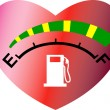 Fuel gage meter showing empty to full — ベクター素材ストック