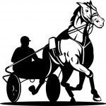 Horse and jockey harness racing — Stock Vector #27774391