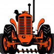 Vintage tractor on isolated background — Stock Vector #27775849