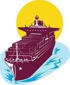 Navire de charge conteneur — Vecteur