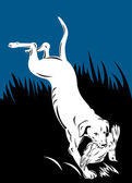 Golden labrador retriever dog head — Stock Vector