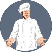 Chef, cozinheiro ou padeiro — Vetorial Stock