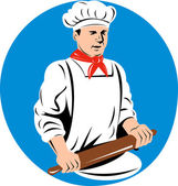 Chef, cook or baker — Stock Vector