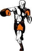 Boxer poinçonnage — Vecteur