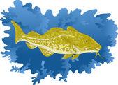 Codfish — Stock Vector
